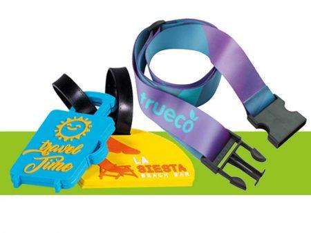 Etichette e cinture bagaglio personalizzate