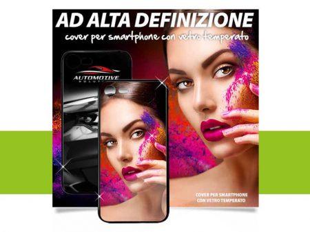 Cover per smartphone con vetro temperato